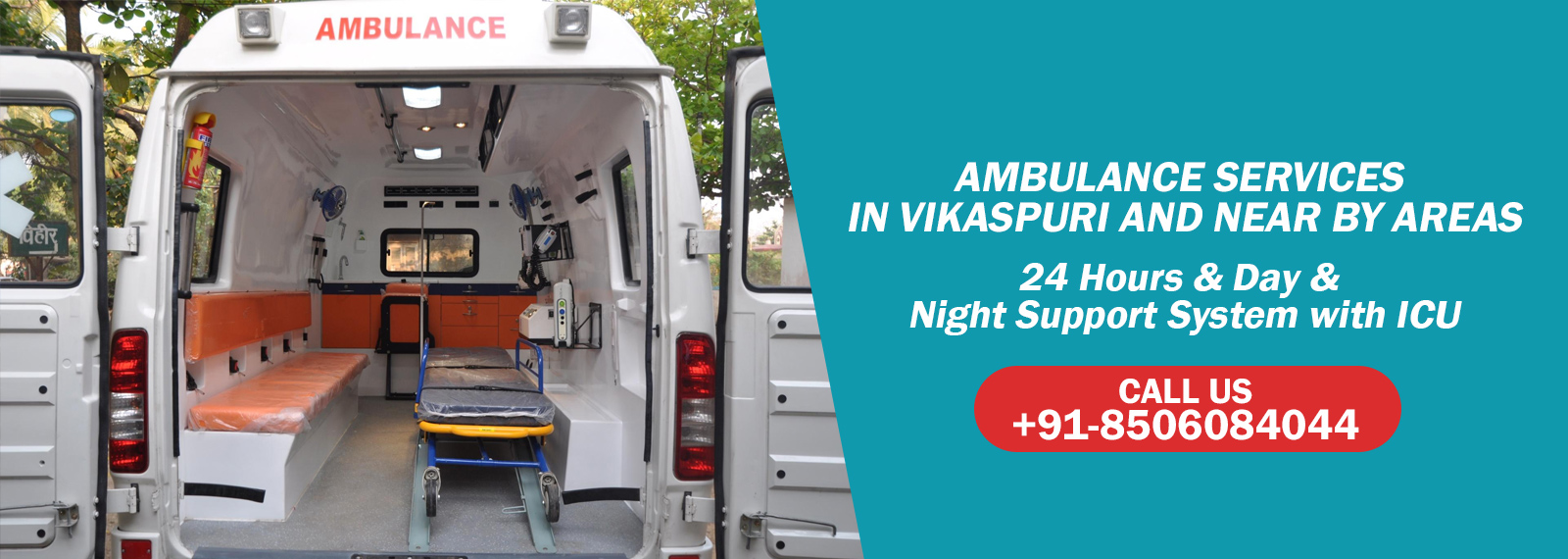 Ambulance Services in Vikas Puri